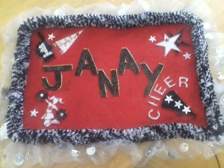 Poster I made for Janay's cheer competitions  cheerleader, cheerleading
