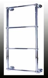 Elpis - Traditional Dual Fuel Towel Rail 1295mm High 840mm Wide 130mm Deep