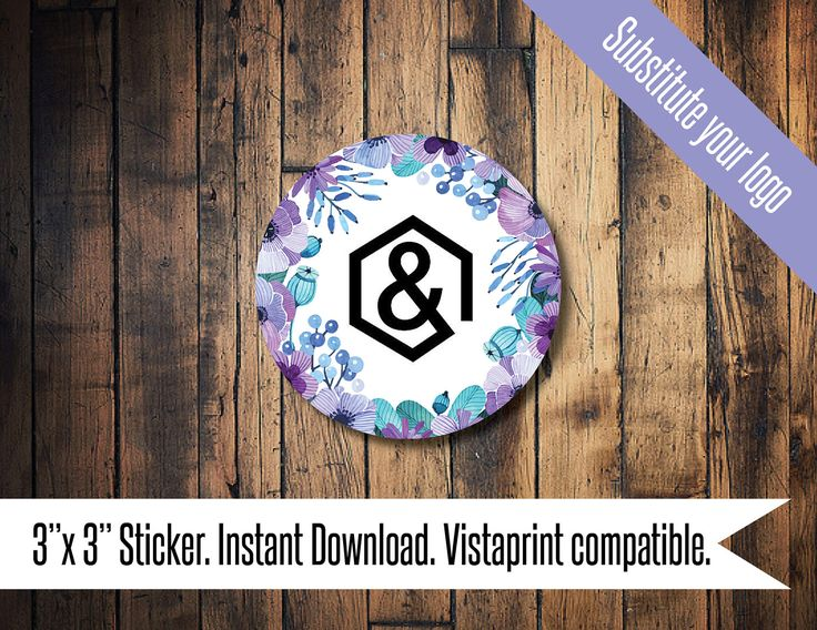 Agnes and Dora business Sticker, Agnes and Dora floral, Agnes and Dora purple blue floral by TheWrightInvite on Etsy