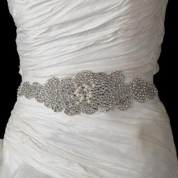 Rhinestone and Pearl Glitz Wedding Dress Belt will add sparkle to your Winter Wedding gown! affordableelegancebridal.com