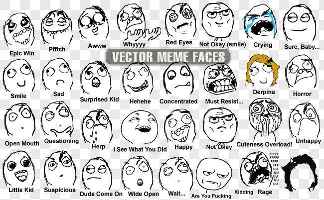 vector meme faces