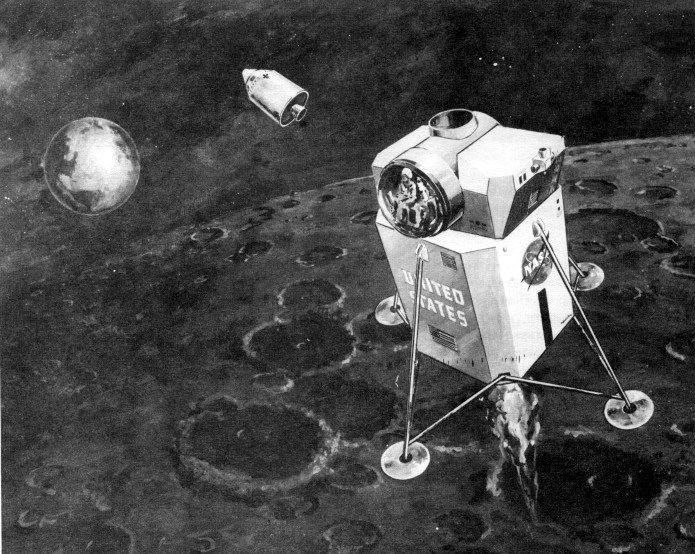 Early Lem Concept Art Project Apollo Nasa History