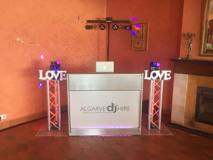 Setup for today's wedding at Vivenda Miranda www.weddingdjalgarve.com