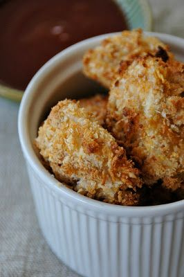Toddler tastes: Baked homemade chicken nuggets