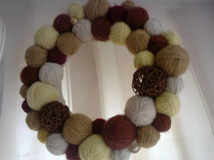 a wreath that`s easy to do autuum colors
