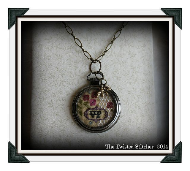 Lizzie Kate Busy Bee Pocket Watch Necklace by The Twisted Stitcher, via Flickr