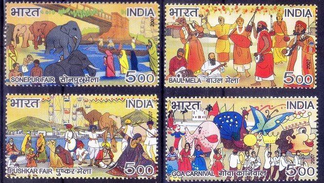 India 2007 MNH 4v, Festivals, Pushkar, Goa Carnival, Elephant, Butterflies- Ac15 | Stamps, Topical Stamps, Animal Kingdom | eBay!