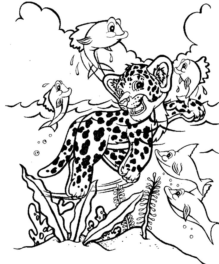 Ausmalbilder Zootiere: Lisa Frank Animals Coloring Pages Download And Print For