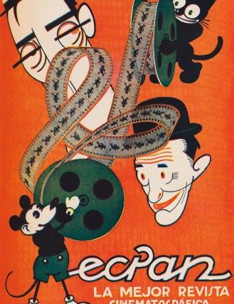 Publicidad de revista Ecran, Chile año 1934