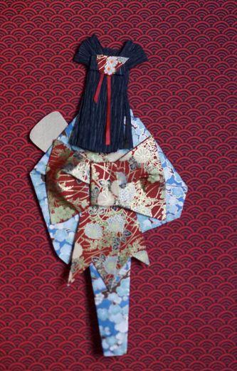 Back view Geisha papercraft