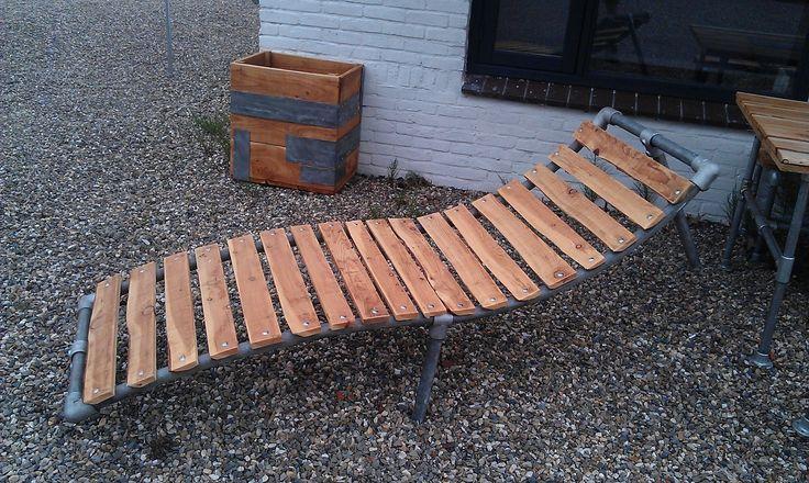 Steigerhout plafond - Steigerhouten meubelen. Tafel, bank, kast op maat.