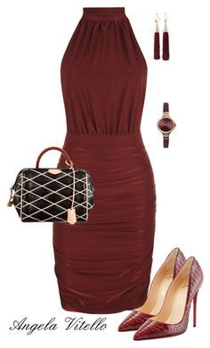 Untitled #598 by angela-vitello on Polyvore featuring polyvore, fashion, style, WearAll, Christian Louboutin, Louis Vuitton, Emporio Armani, Eddie Borgo and clothing