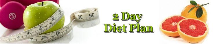 2 Day Diet Plan - Weight Loss Diet Plan for Vegetarians
