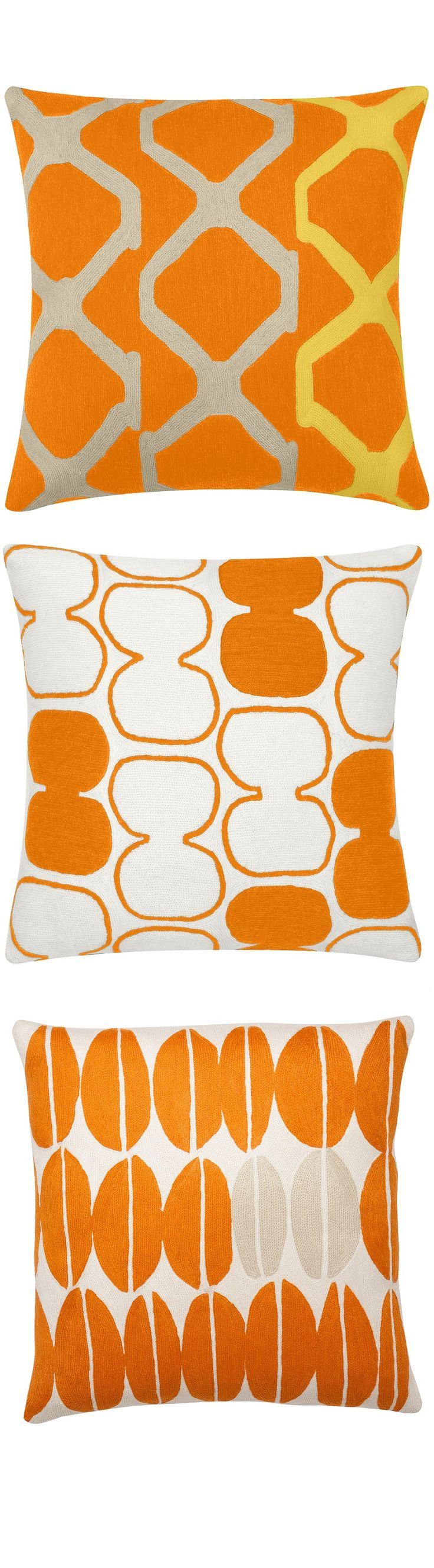 best  contemporary pillow cases ideas on pinterest  - orange pillows orange throw pillows orange modern pillows by instyle