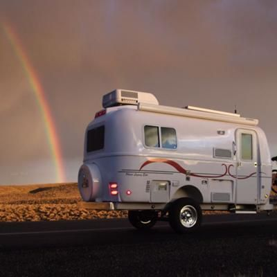 Follow The Rainbow We Re Both In Our Mid 30s Lightweight Camperslightweight Travel Trailerstiny