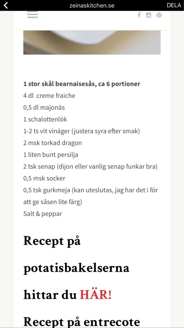 Kall bes-sås - Recept - Stowr