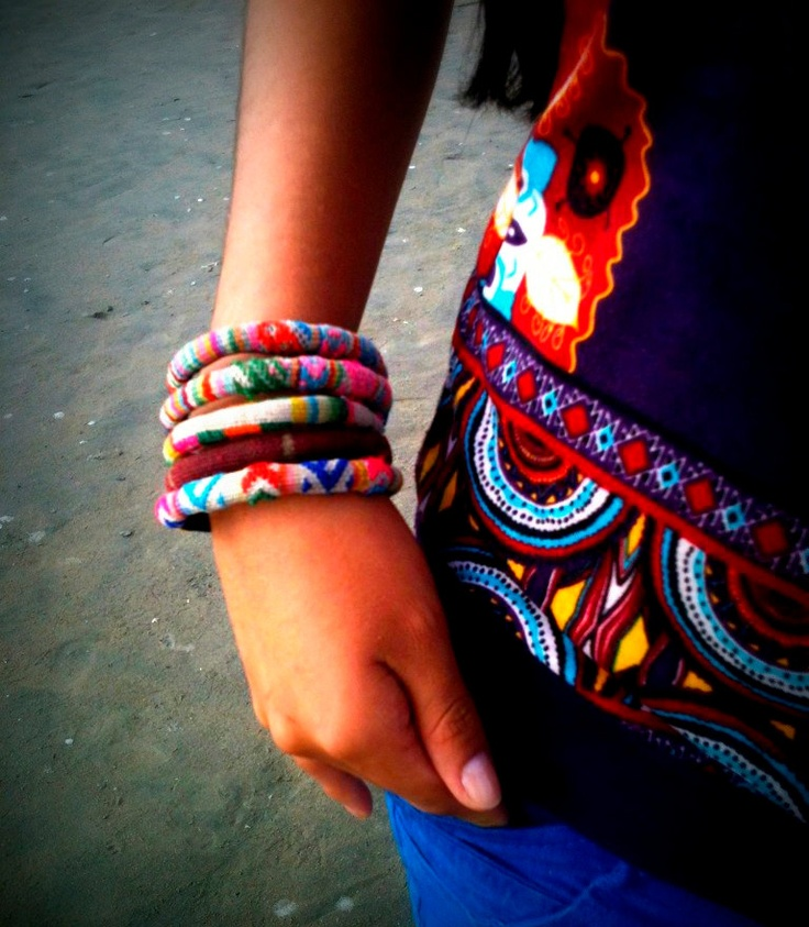 Peruvian Bracelet. $9.00, via Etsy.
