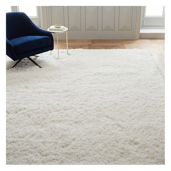 West Elm Cozy Plush Rug, White, 5'x8' ($299) ❤ liked on Polyvore featuring home, rugs, white, white plush rug, plush rugs, polyester area rugs, west elm and polyester pile rug