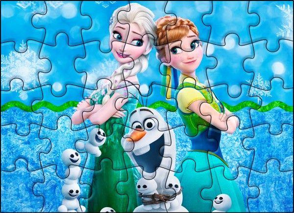 Quebra-cabeça Frozen Febre Congelante