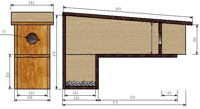 plan de nichoir chev che nichoirs pour chouettes. Black Bedroom Furniture Sets. Home Design Ideas