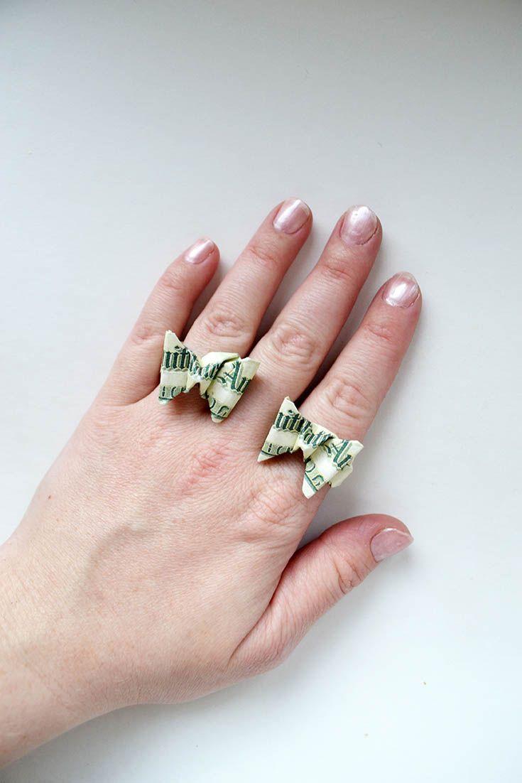 14 Best Money Jewelry Origami Images On Pinterest