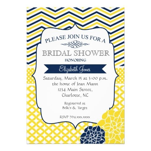 78 best ideas about yellow bridal showers on pinterest for Yellow bridal shower invitations