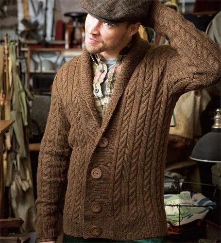 6fc0bf03a Man s Cable Cardigan  VKW0910 17  via Craftsy