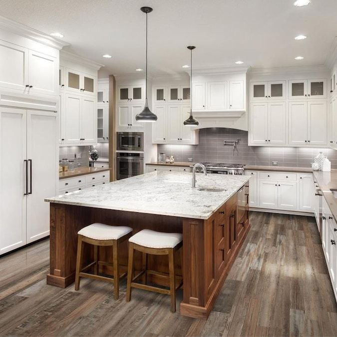 Cali Vinyl Pro Classic 10 Piece 7 12 In X 48 In Redefined Pine Luxury Vinyl Plank Flooring Lowes Com In 2020 New Kitchen Cabinets Interior Design Kitchen Kitchen Design