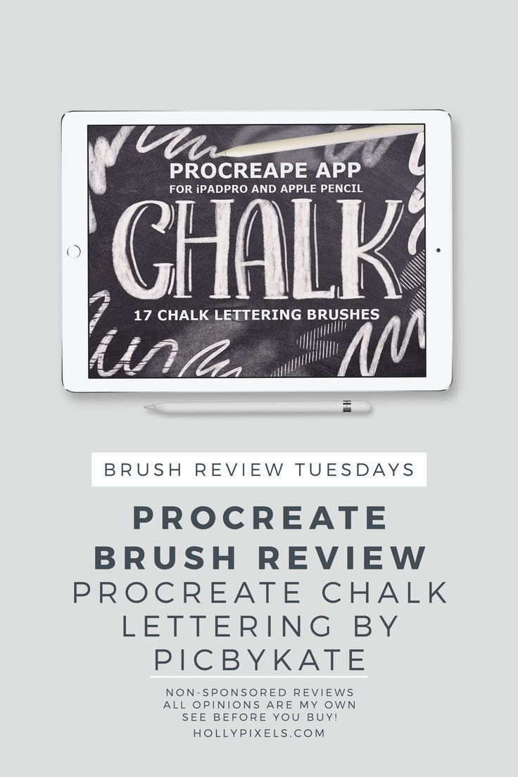 Procreate Brushes Review | Procreate App | Lettering, Chalk