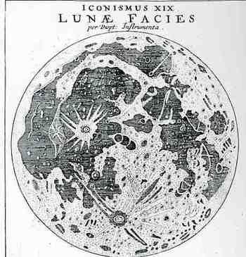 Johannes Kepler. moon. 1611