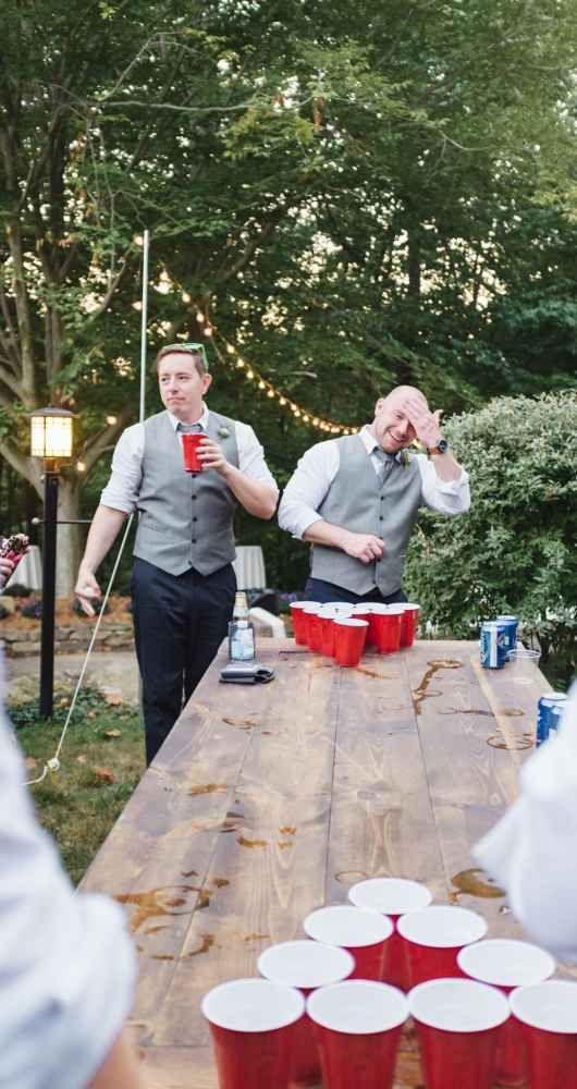 Beer Pong at my wedding :)
