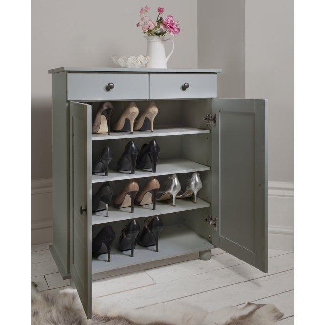 Heathfield Shoe Storage Unit In Silk Grey Shoe Cabinet Storage