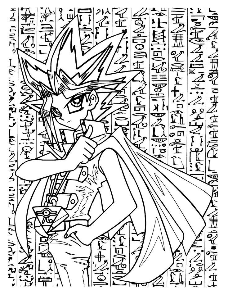 14 best Color Yu Gi Oh / Yu-Gi-Oh! coloring pages and lineart ...