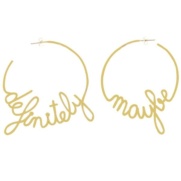 Vanina SAY IT DIFFERENTLY DEFINITELY MAYBE EARRINGS ($102) ❤ liked on Polyvore featuring jewelry, earrings, gold, jewelry earrings, earring jewelry and vanina
