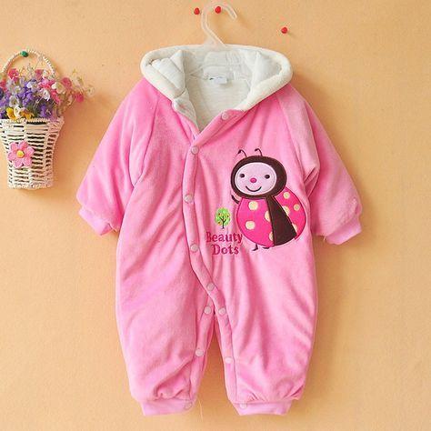 De inverno de lã quente Romper bebê recém-nascido menino menina com capuz macacão roupas meninos do bebê roupas roupas de bebe macacão de bebê Romper