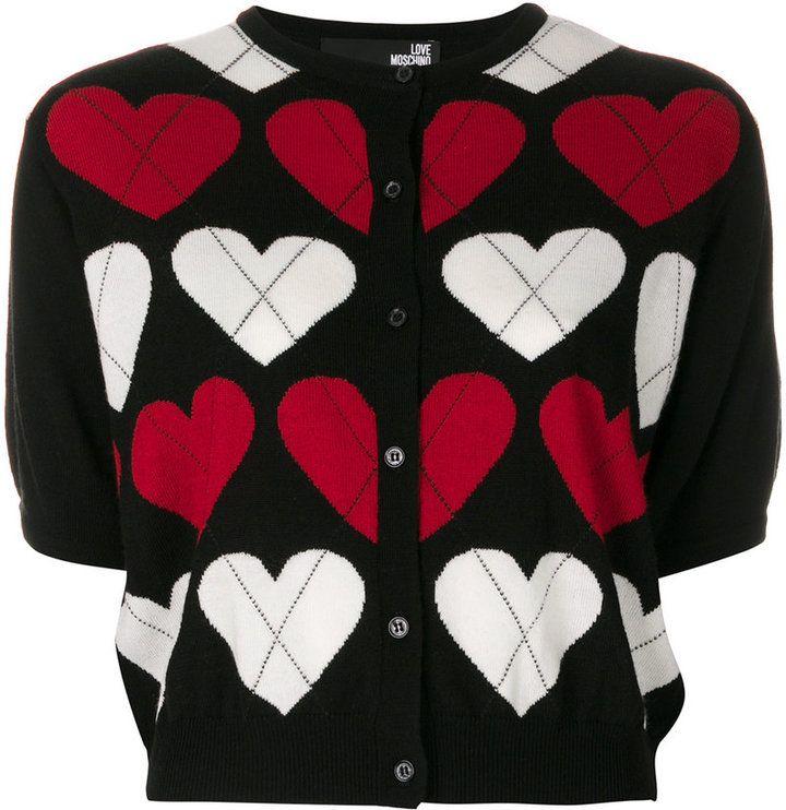 Love Moschino short-sleeve heart cardigan