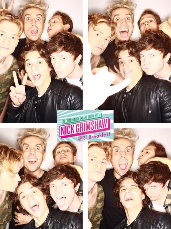 The Vamps and Nick Grimshaw