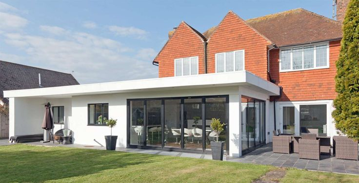 Flat Roof Extension Exterior Pinterest Roof