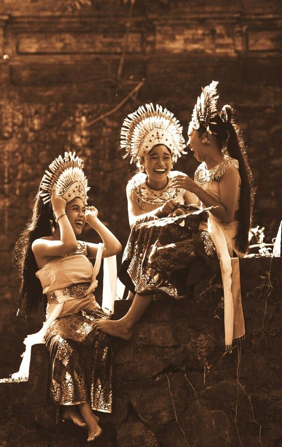 Cheerful Dancers in Bali