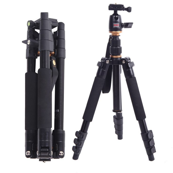 DE STOCK Beike BK-555 SLR Camera Tripod Aluminium alloy Portable Folded Travel Tripod With Ball Head for Canon Nikon DSLR Camera //Price: $54.67//     #storecharger
