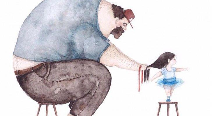 Wat Doet Een Vader Voor Zijn Dochter? Deze Tekeningen Schetsen Een Vertederen Beeld Van De Band Tussen Een Vader En Zijn Dochter