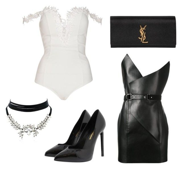 Senza titolo #566 by sara-scagnoli on Polyvore featuring moda, Yves Saint Laurent and WithChic