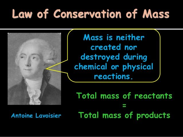 the law of conservation of matter The law of conservation of mass or principle of mass conservation states that for any system closed to all transfers of matter and energy, the mass of the system must remain constant over time, as system's mass cannot change, so quantity cannot be added nor removed hence, the quantity of mass is conserved over time.