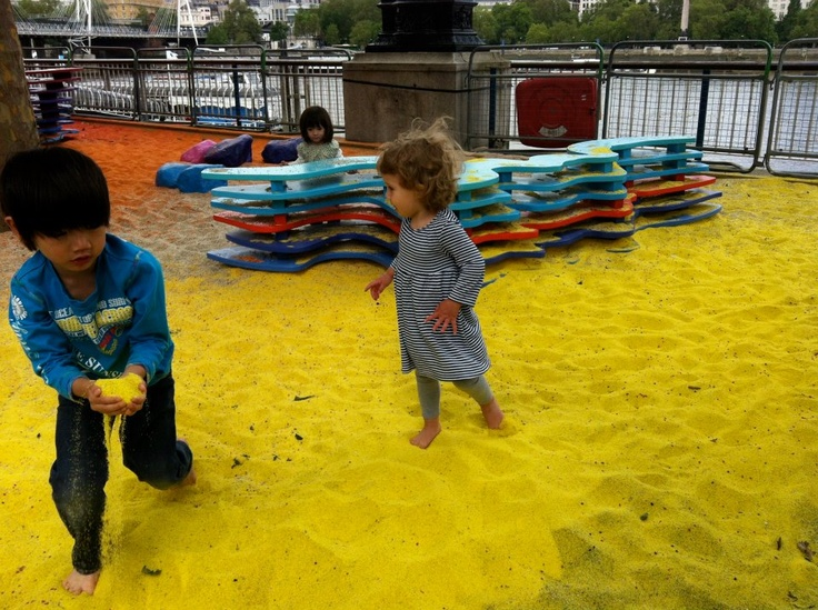 Rainbow Park, Adam Kalinowski's public installation at Southbank Centre, this summer.