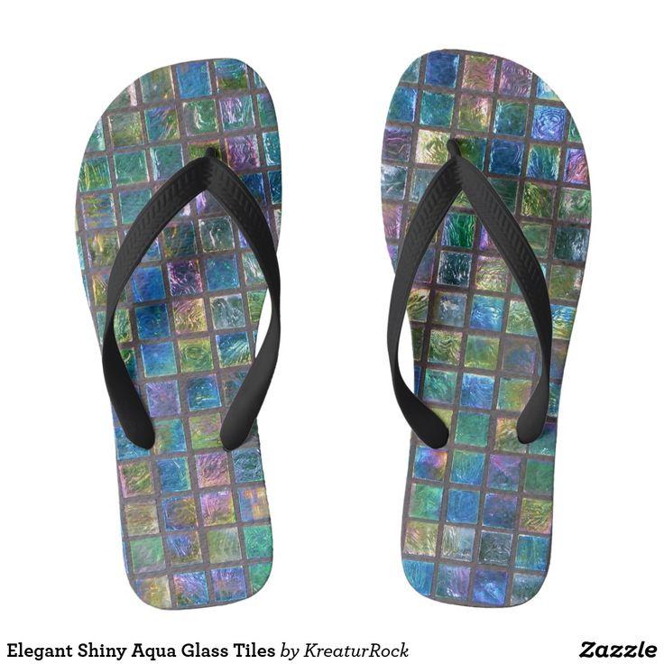 Elegant Shiny Aqua Glass Tiles