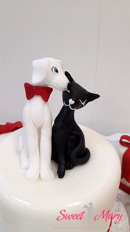 Милые кошечки для свадебного торта