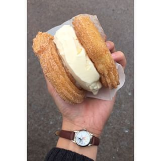 These tasty treats were popularized by Churro Borough in L.A and are truly life-changing. | You Haven't Lived Until You've Tried A Churro Ice Cream Sandwich