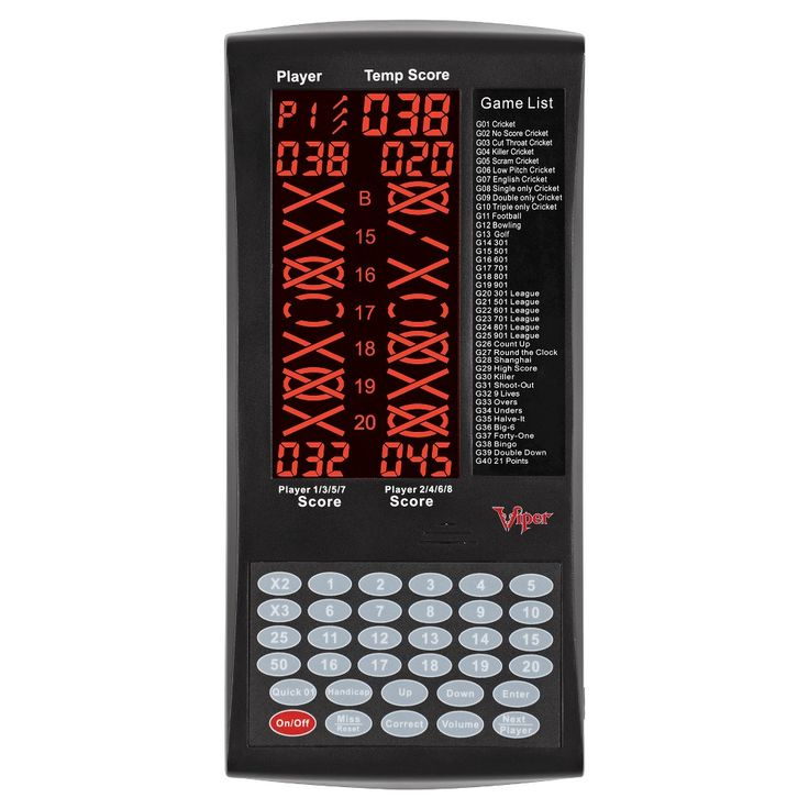 Viper ProScore Electronic Darts Scorer, Black