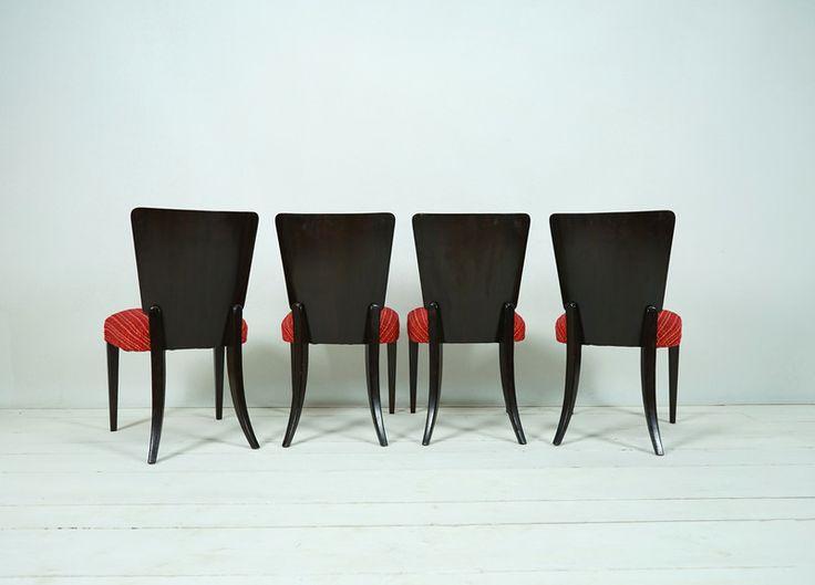 Vintage Stühle - 4 STÜHLE HALABALA ART DECO - ein Designerstück von ferdinand-christall bei DaWanda