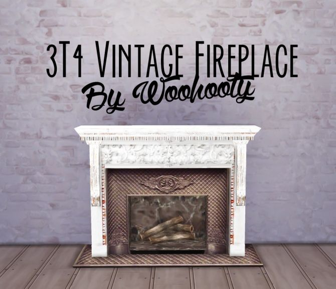 3T4 Vintage Fireplace (deco) at Woohooty via Sims 4 Updates | Sims ...